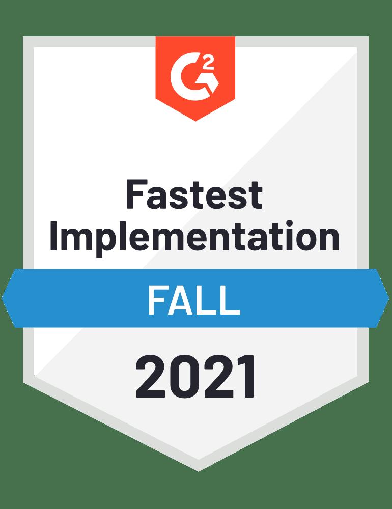 G2 Fastest Implementation Blumira